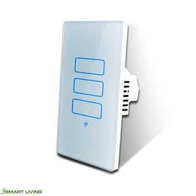CTEC Wi-Fi wall switch with Google Home, Alexa voice support (3  gangs/buttons)