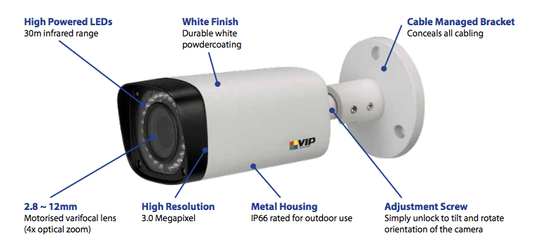 VIP Vision 3mp motorised HD z-wave camera