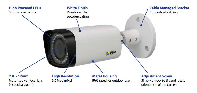 VIP Vision 3mp motorised HD z-wave camera